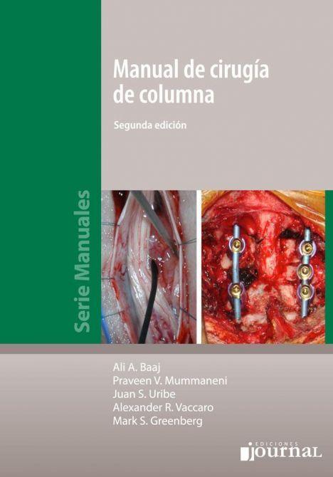 MANUAL DE CIRUGIA DE COLUMNA 2º ED.